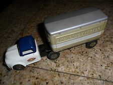 1960's Japan C.S. Cab Truck & Trailer Cragstan Express Tin Toy Friction 8""