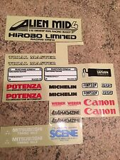 Part Decal Sheet for Hirobo Alien Mid 4 1/10 RC Car Vintage Rare