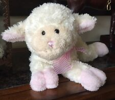 """Mary Meyer Christening Wind-Up """"Jesus Loves Me"""" Musical Lamb Stuffed Animal Toy"""