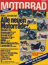 M8219 + Vergleich BMW R 100 RT vs. YAMAHA XS 1100 und andere + MOTORRAD 19/1982