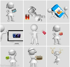 3D Charakter Grafiken PNG V.7 MRR Lizenz Werbung ICON Flyer Master Reseller WOW
