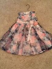 Girls Jayne Copeland Party / Easter Dress Size 6 X Pink Floral Sweet!