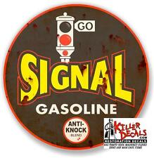 """24"""" RUSTY LOOKING SIGNAL decal lubster gas pump gasoline oil man cave"""