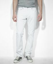 New Levi's Mens 511 0407 Slim Fit Skinny Leg White Wash Denim Jeans Size 38 X 32