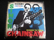 """SIMON CHAINSAW - DRESSED TO THRILL 7"""" BLUE VINYL EP"""