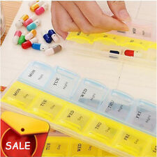 14 Slot 7 Day Tablet Pills Storage Box Weekly Medicine Organizer Container Case