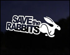 Save Rabbits Euro Vag Car VW Decal Sticker Vehicle Bike Bumper Vinyl Graphic