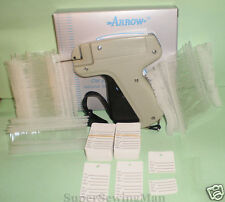 CLOTHING PRICE LABEL TAGGING TAG GUN WITH 2000 pins100 PRICE LABELS + 2 NEEDLES