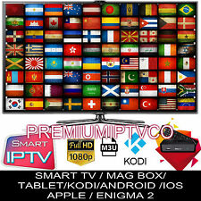 12 months IPTV Subscription ~ Mag 254/250 Arabic/UK/US Premium Sports & 3pm ~PPV