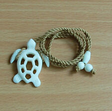 Hawaiian White Bone Hand Carved Men Honu Turtle Fashion Hawaii Necklace/Chocker