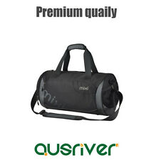 Premium New Women Men Gym Sports Travel Barrel Shoulder Bag Handbag Black & Gray