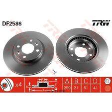 Disque de frein, 1 unités trw df2586