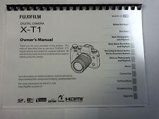 Fujifilm X-T1 stampato Manuale di Istruzioni User Guide 152 pagine A5