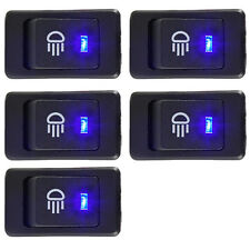 5 X Car 12V 35A Fog Light Button Rocker Toggle Switch 4Pin Blue LED Dash Sales