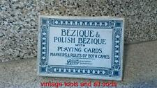 BEZIQUE AND POLISH BEZIQUE VINTAGE CARD GAME