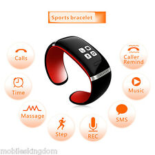 Red Universal Smart OLED Bluetooth Bracelet Wrist Watch- Call ID/Answer/Dial/SMS