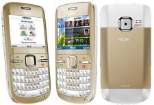 New Nokia C3-00 White Gold Wifi Qwerty Keypad Unlocked Genuine Mobile Phone