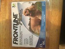 Frontline Plus For Dogs Med 23 to 44lbs 3 Doses NIB Kills Fleas, Ticks, Lice