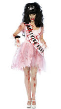 NEW WOMENS LADIES ZOMBIE HALLOWEEN PROM QUEEN COSTUME FANCY DRESS PARTY OUTFIT