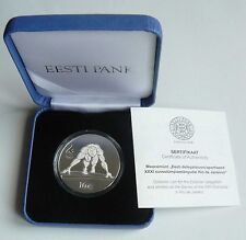 Estonia 2016 Olympic Games in Rio de Janeiro Silver Coin 10 Euro PROOF Box Cert