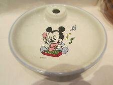 ancienne assiette de bébé bouillie en porcelaine decor mickey chauffe