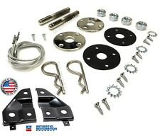 Plymouth Cuda Hood Pin Kit and Support Brackets Mounting Hardware Package Mopar