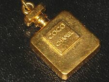 CHANEL   authentic GOLD COCO PERFUME BOTTLE 27 MM  CHARM PENDANT UNDER 1 1/4''