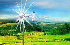 2400 W WindZilla PMA 12V AC 12 Blade Wind Turbine Generator+180A Slip Ring + Hub