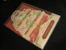 Carol Wilson 10 Christmas Boxed Cards Envelopes Cupcakes Cup Cake Holiday