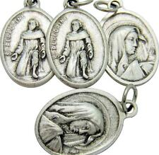 MRT 4 Lot St Peregrine Catholic Cancer Saint Medal Silver Plate Catholic Italy