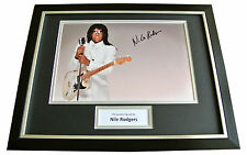 NILE RODGERS SIGNED & FRAMED AUTOGRAPH PHOTO DISPLAY CHIC LE FREAK POP/ROCK  COA