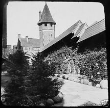 LIESEGANG Glass Magic lantern slide MARIENBURG CASTLE C1910 POLAND