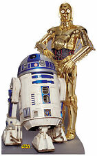 R2-D2 & C-3PO(STAR WARS) LIFE SIZE STAND UP FIGURE GALAXY FILM MOVIE ROGUE ONE!!
