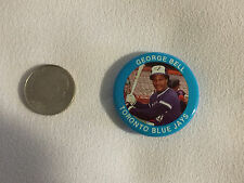 GEORGE BELL 1984 Fun Foods Baseball Button - Toronto Blue Jays