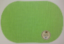 SET OF 6 WAFFLE WEAVE PLACEMATS NON SLIP OVAL
