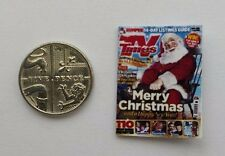 Miniature 1:12th scale Dolls House accessory Christmas TV Times Television Guide