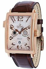 Gevril Men's 5150R Avenue of Americas Serenade Twin Time Zone 18K Solid Gold
