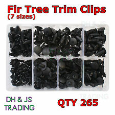 Assorted Box of Fir Trees (7sizes) Black Qty 265 Trim Panel Clips Fasteners