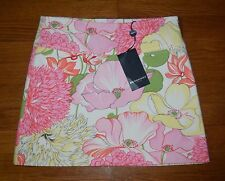 NWT Burberry Floral Pink Cotton Mini Skirt Sz 2