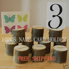 Wedding Place Cards Wooden Name Table Number Holder Vintage Eco Decoration Label