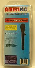 Amerikit FM Wireless Microphone Kit Model AK-710/K-30 - NEW