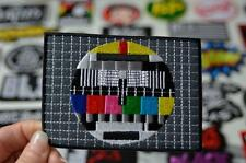 LARGE ABC Test Pattern Television TV Retro Decal Cloth Patch Iron/Sew On PatcheS