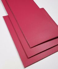 Leather Pieces, Fuschia Pink, 3 Piece Lot, good for Crafting and Leather work