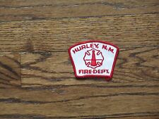 hurley ,new mexico fire department , patch,nos, 1960's