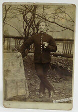 British Soldier with swagger stick: Victorian era c1890 Cabinet Card Photo