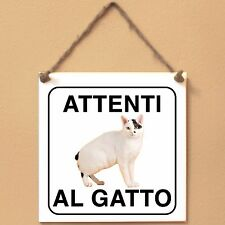 Bobtail giapponese 3 Attenti al gatto Targa gatto cartello ceramic tiles