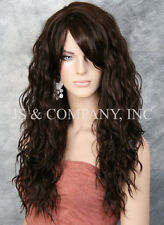 Super model Long HEAT SAFE Wavy Full Body Wig Dark Brown HSP 4