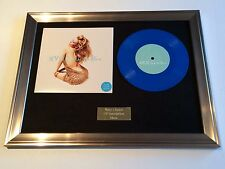 "KYLIE MINOGUE - INTO THE BLUE 7"" VINYL RECORD FRAMED PRESENTATION. AUSTRALIAN"