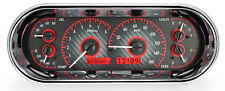 Dakota Digital Universal Oval Analog Dash Gauges Carbon Fiber Red VHX-1018-C-R