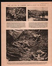 WWI Flandre British Army sanitary Red Cross Tranchées Belgique 1917 ILLUSTRATION